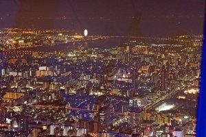 東京湾お台場方面の夜景